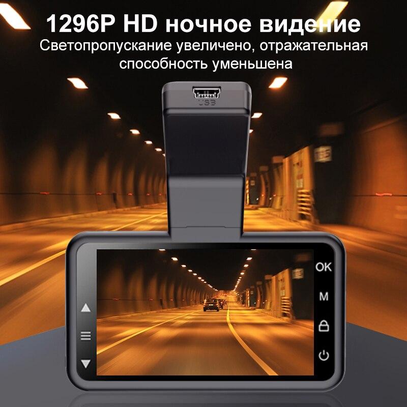 Оригинальная видеорегистратор AZDOME M17 1080P HD с ночным видением ADAS  Автомобильная видеорегистратор Wi-Fi DVR с двумя объективами Автомобильная  камера 24H парковочный видеорегистратор видеорегистраторы авто