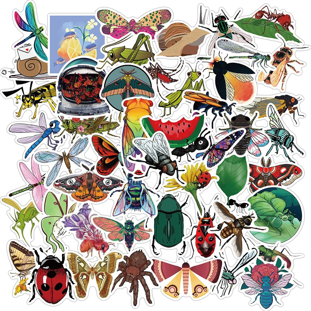 10/30/50PCS Funny Insect Animal Graffiti Stickers DIY Motorcycle Travel Luggage Guitar Skateboard Cl