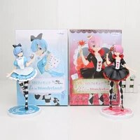 21 25cm re life in a different world from zero rem ram anime action figure pretty girl pvc collection model dolls toys for gifts