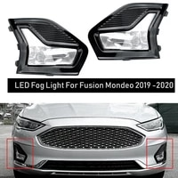 new car led front bumper fog light driving lamp kit with bezel covers wiring for 2019 2020 ford fusionmondeo