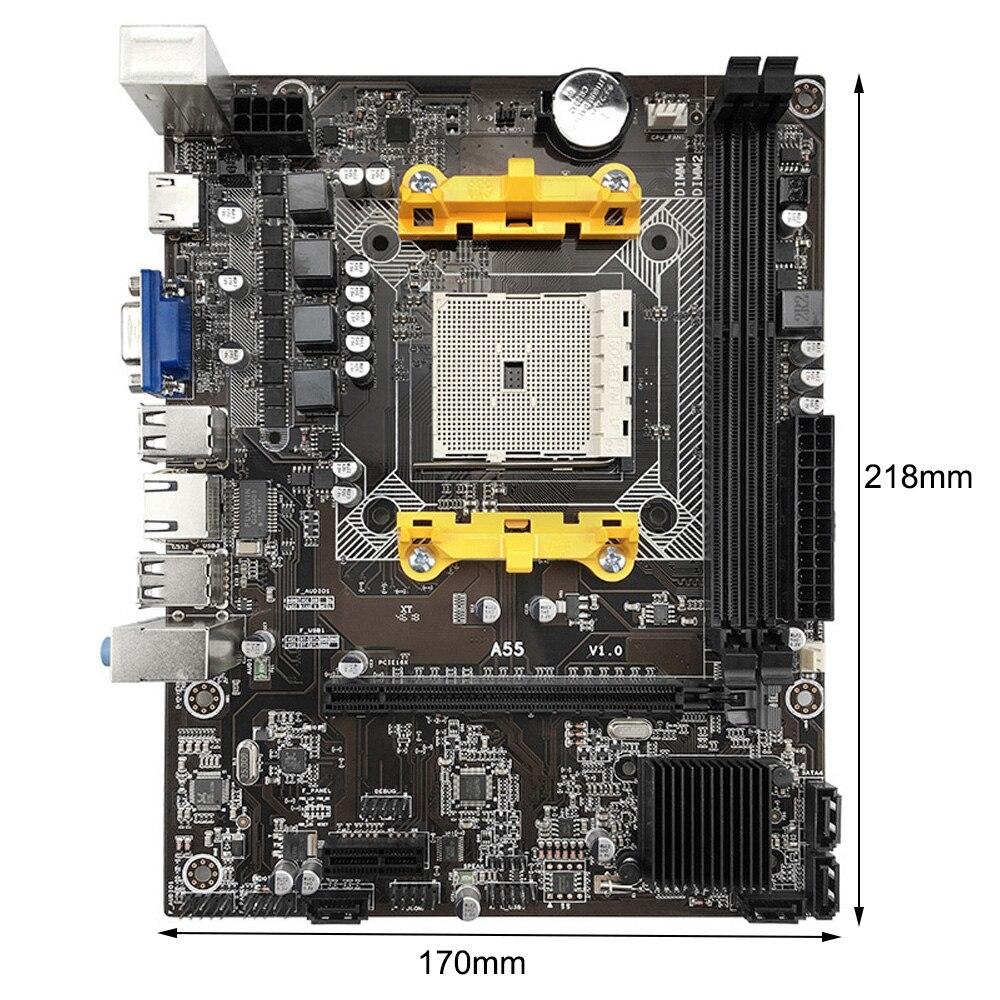 A55 لوحة أم للكمبيوتر M-ATX DDR3 16G USB 2.0 SATA اللوحة الرئيسية دعم AMD A4/A6/A8 إنتل سلسلة وحدة المعالجة المركزية