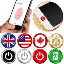 # H40 accueil bouton autocollant tactile ID maison bouton autocollant haute sensibilité empreinte digitale Identification autocollants pour IPhone 7