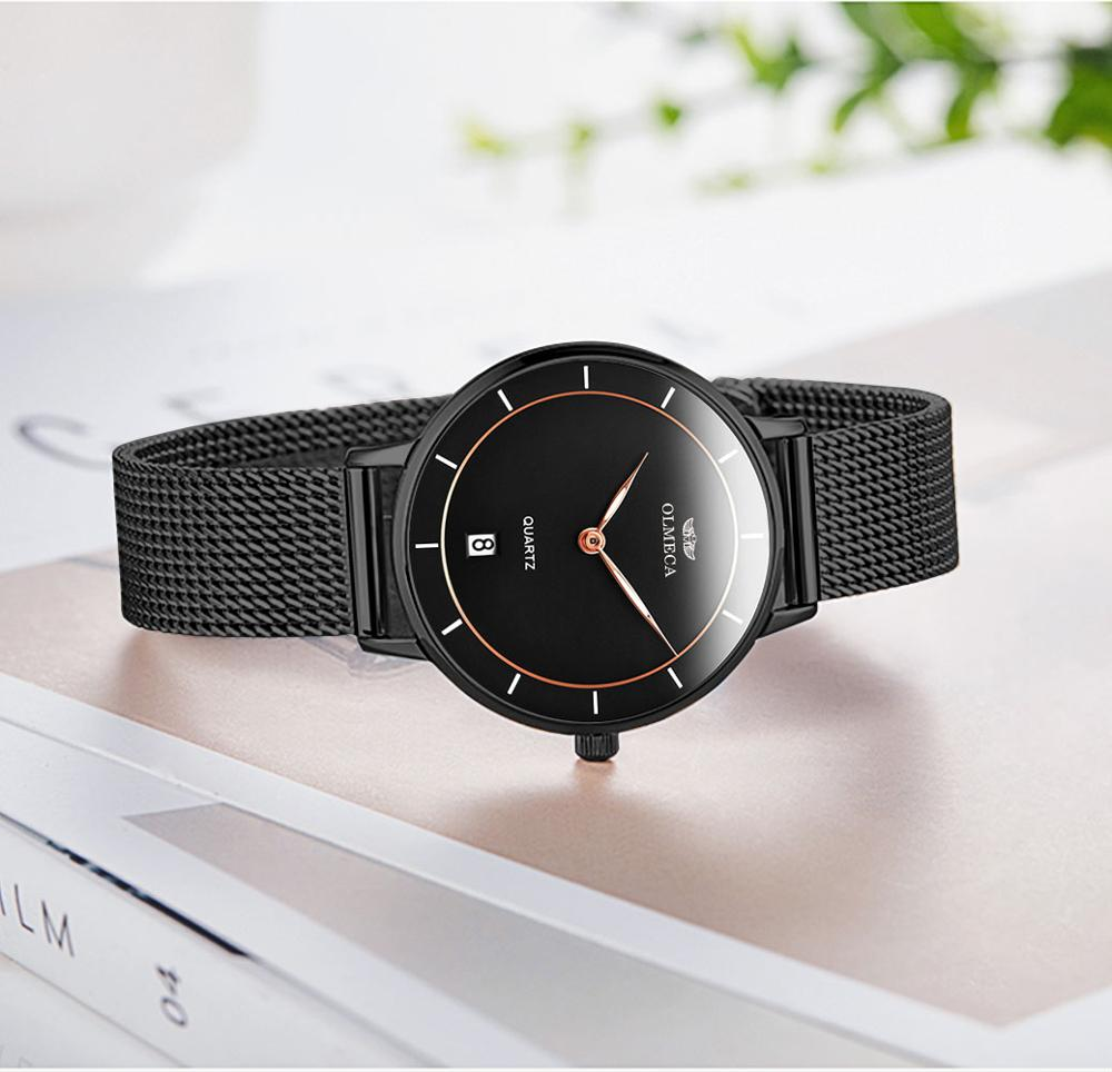 OLMECA Top Brand Men's Watch Fashion Wristwatch Waterproof Quartz Watches Auto Date Relogio Masculino Genuine Leather Watch enlarge