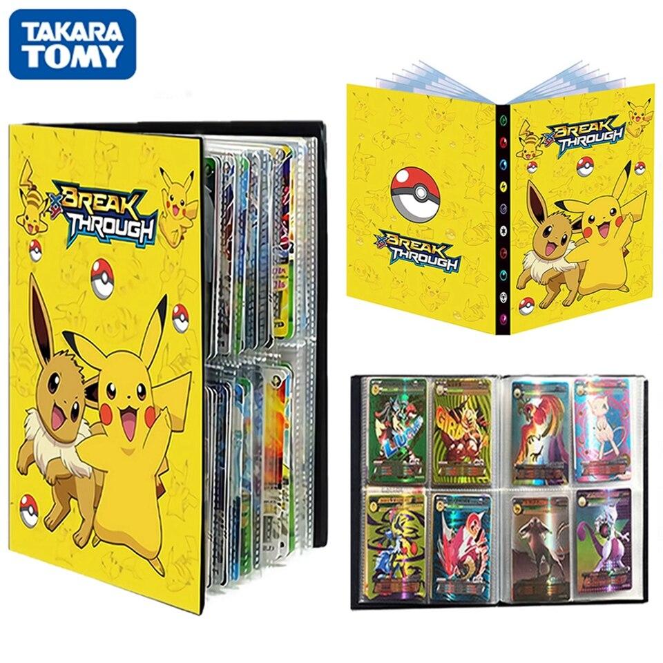 240Pcs Pokemon Album Cards Book Playing Game Pikachu Map Holder Display Livre Pokémon Collections B