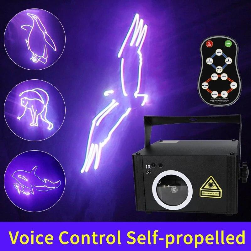 ديسكو حفلة DJ ضوء المرحلة تحكم عن بعد SD بطاقة برنامج تحرير DMX الرسوم المتحركة مسح RGB لون جهاز عرض ليزر أضواء الموسيقى