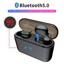HBQ TWS Bluetooth Kopfhörer Touch Control Mini Ohrhörer Mit Mic LED Power Display Ladung Box Drahtlose 3D Stereo Musik Spielen headset