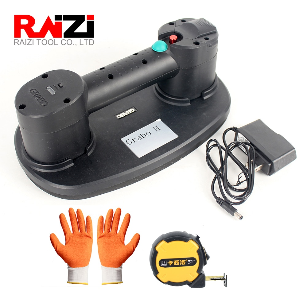 Raizi Grabo Portable Electric Vacuum Suction Cup for Wood Granite Glass Tile Drywall Battery Heavy Lifting Carrying Tools