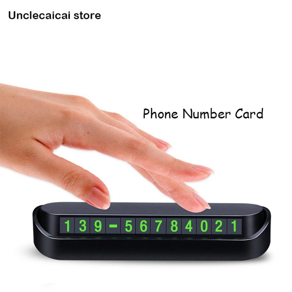 Автомобильная карта с номером телефона, карточка с временным номером телефона для парковки, автомобильные аксессуары 13x2,5 см