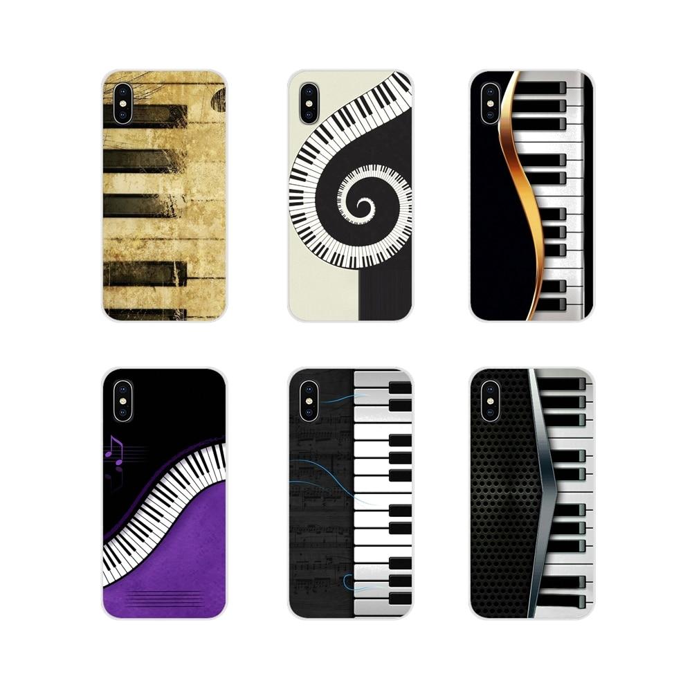 Música piano teclado acessórios do telefone capas de concha para apple iphone x xr xs 11pro max 4S 5S 5c se 6 s 7 8 plus ipod touch 5 6