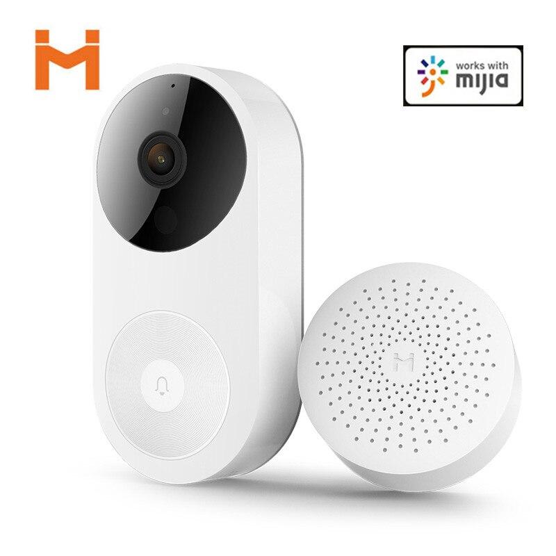 Câmera de Vídeo Porteiro sem Fio da Porta Bell para Uso Doméstico para Mijia Youpin Inteligente Campainha Mais Novo ir ai Rosto Identificação App wi fi