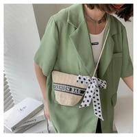 small bag womens new 2021 straw bucket bag mini woven single shoulder messenger bag purses and handbags mini knitted purse
