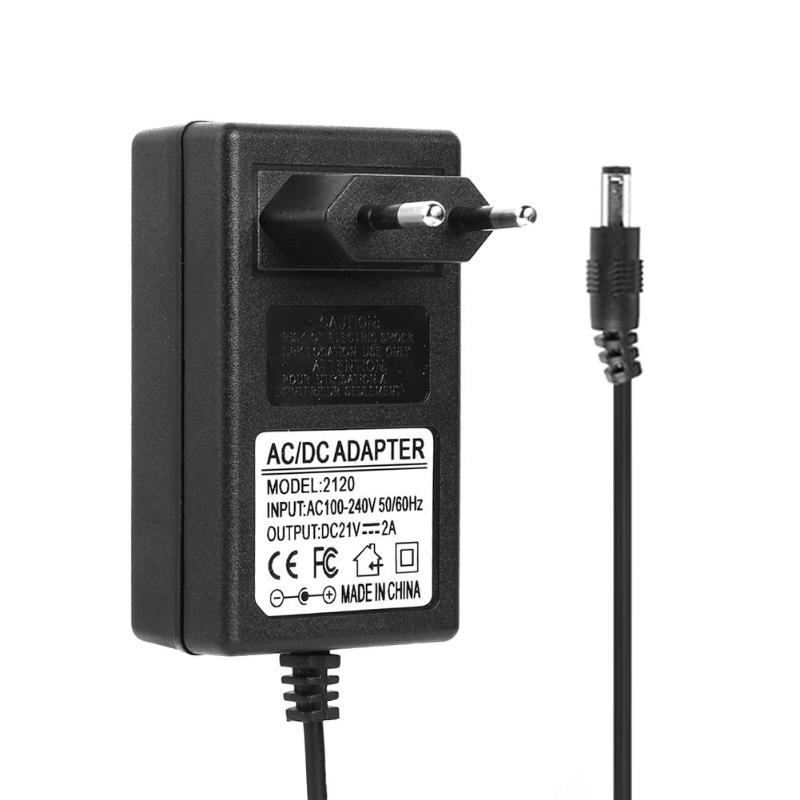 21V 2A 18650 Lithium Battery Charger DC 5.5x2.5mm Plug Power Adapter Charger for 18490 14650 14514430 Battery Pack