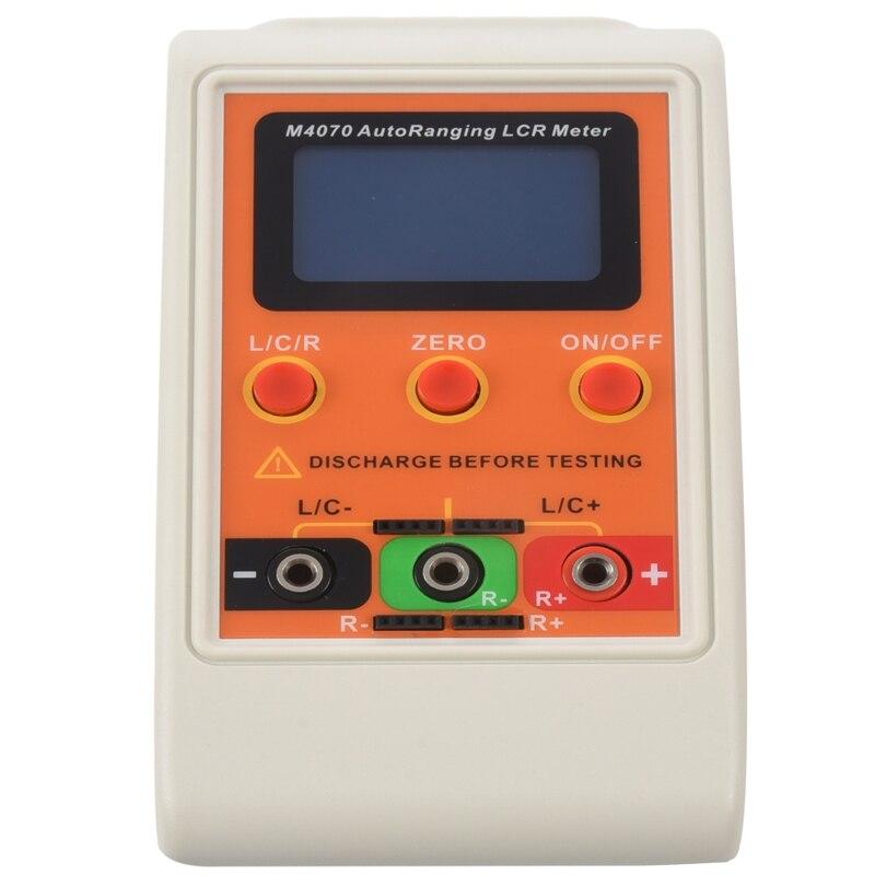HHO-M4070 AutoRanging LCR Meter hasta 100H 100mF 20MR, 1% precisión Pantalla de 5 dígitos naranja
