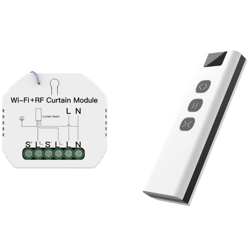 WiFi RF الذكية الستار الستائر وحدة التبديل الأسطوانة مصراع المحرك تويا اللاسلكية التحكم عن بعد العمل مع أليكسا جوجل المنزل