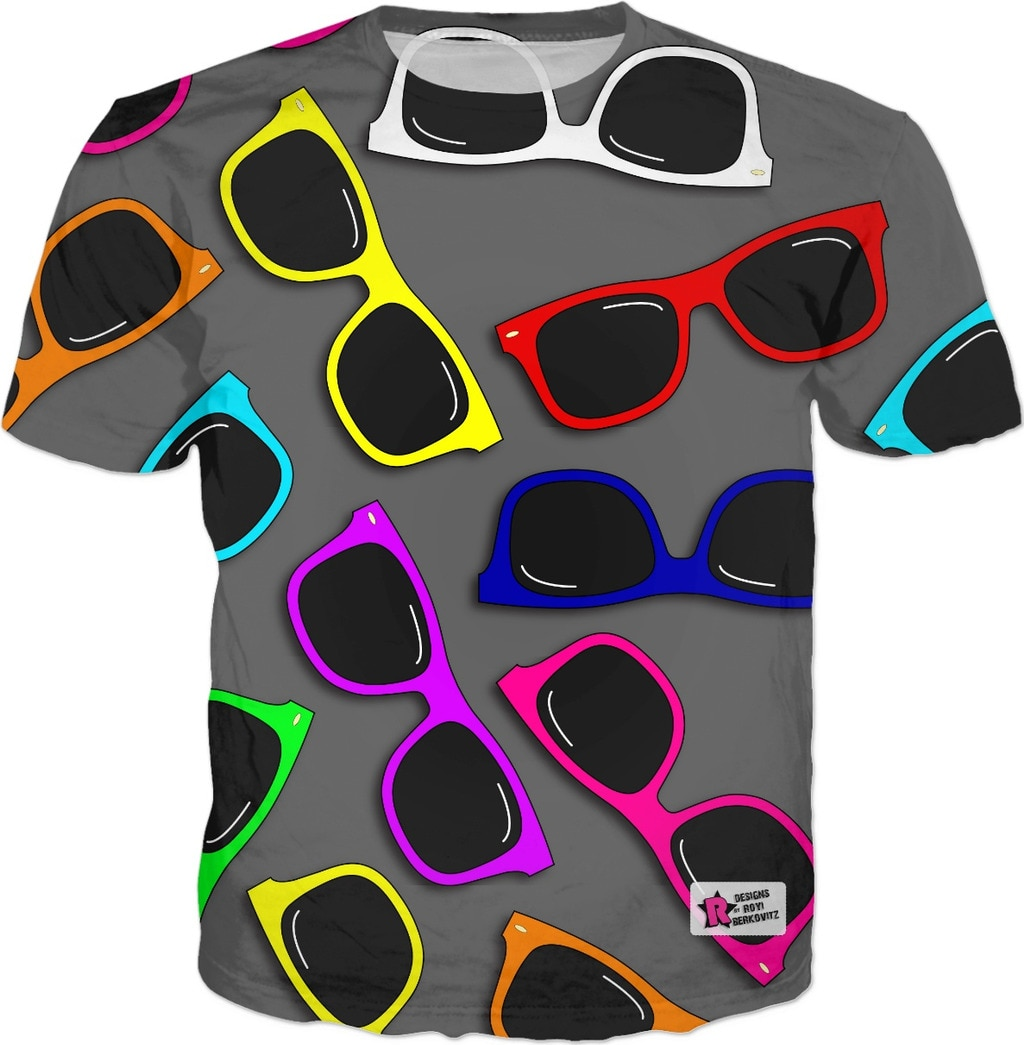Sunglasses in Color T-Shirt Women Men 3d Printed Casual Hip Hop T Shirt Fashion Clothing Summer Sty