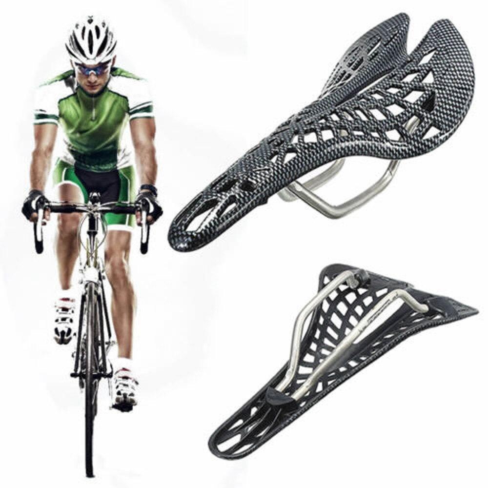 Fibra de carbono mountain racing preto bicicleta ciclismo oco sela assento macio antiderrapante ao ar livre bisiklet acessórios novo estilo