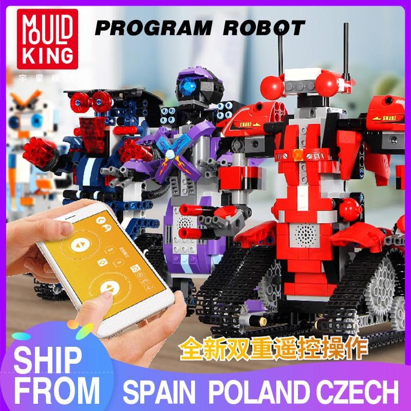 Mould King Technic-bloques de construcción de Robot Crawler, Robert M2 M1 M3 M4, juego de Control remoto, modelo de coche, juguetes educativos para niños