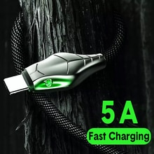 2m 3m 5A Type C Cable 3A Micro USB Charger Fast Charging LED Charge Wire Cord For iPhone 11 Xiaomi Samsung Android Phones