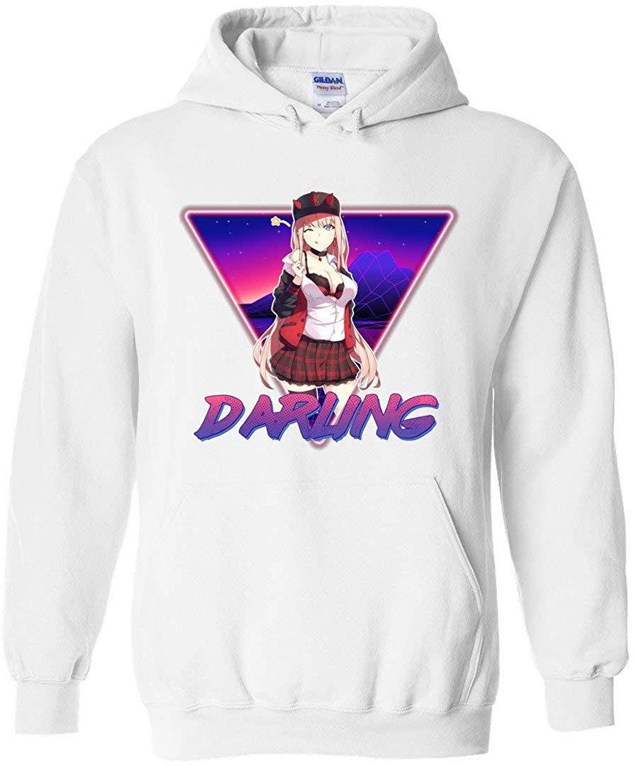 Zero Two 002 Ретро арт Дарлинг в стиле франкс унисекс пуловер с капюшоном для мужчин/женщин мужчин Толстовка