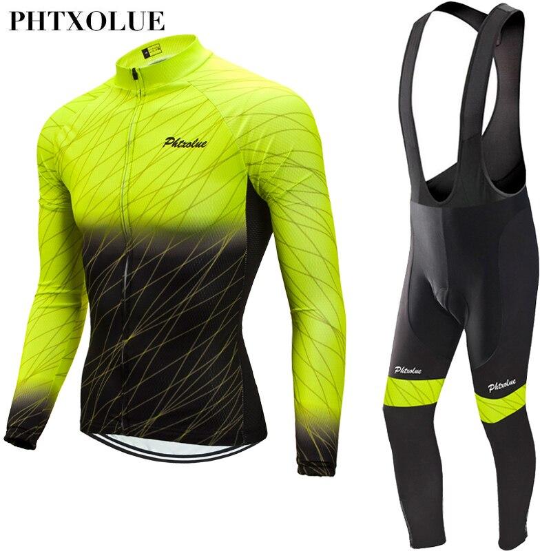 Phtxolue-Suéteres de lana térmica para ciclismo, conjunto de ropa de bicicleta de...
