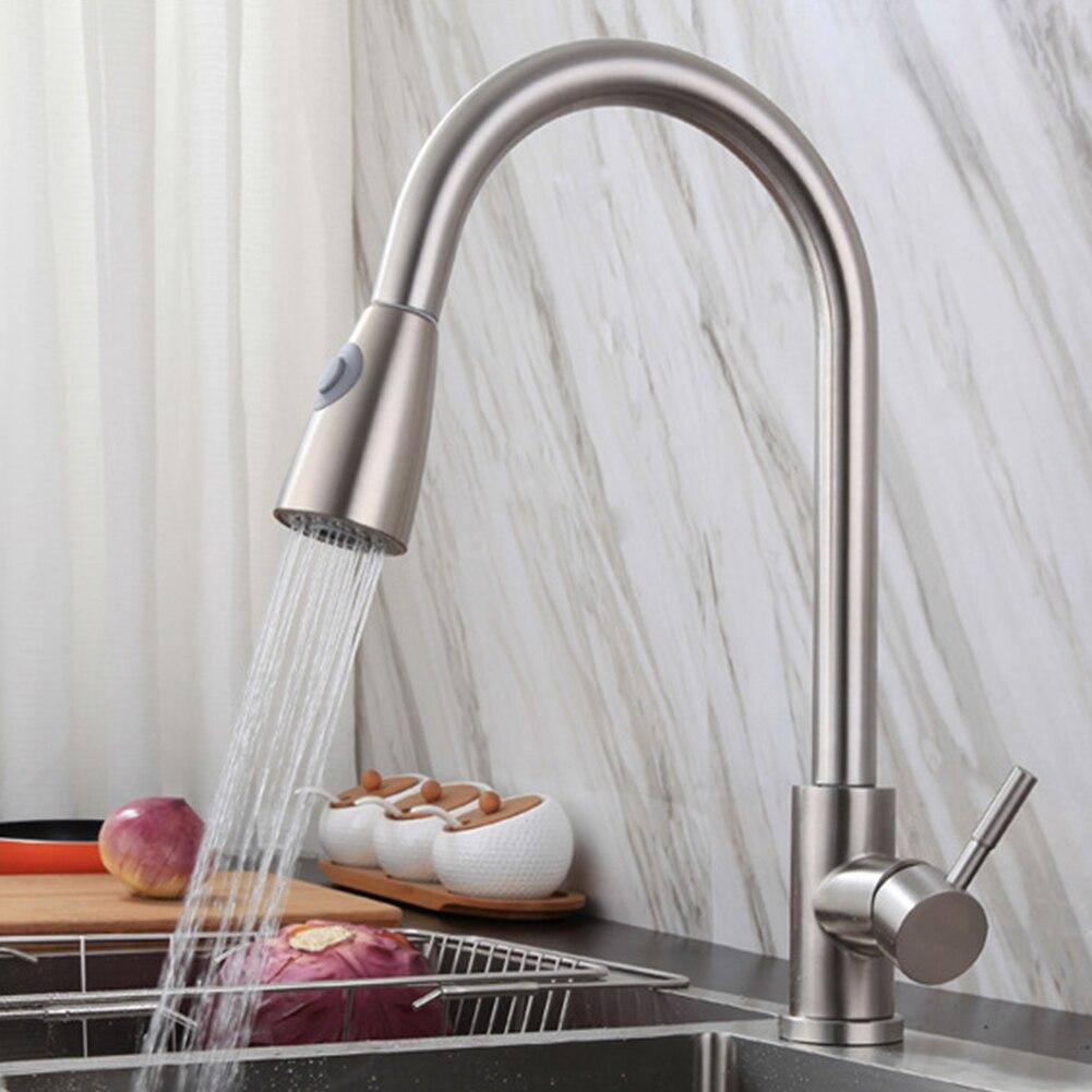 43 سنتيمتر الانسحاب الفولاذ المقاوم للصدأ الحنفيات المنزلية تلميع تدوير صنبور حوض خلاط متعددة الوظائف صنبور المياه صنبور المطبخ