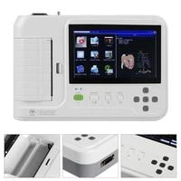 ecg600g ecg machine 7 touch screen digital elektrokardiograph 6 channels 12 lead usb ekg monitor thermal printer pc software