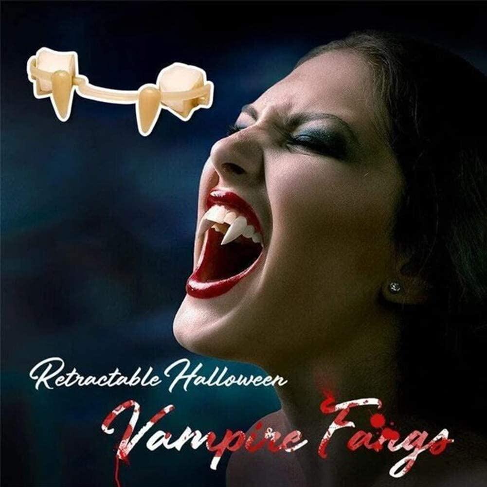 Halloween Vampire Teeth Cosplay Halloween Supplies Props Teeth Zombie Fangs Vampire Retractable Pointed Teeth Party Decoration vampire teeth with artificial blood gel