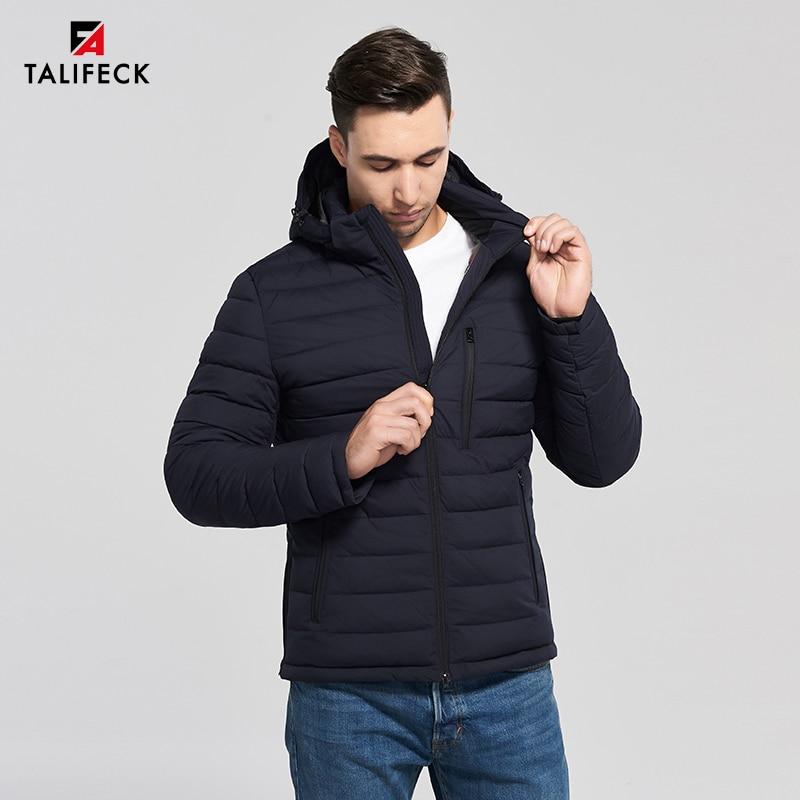 Nueva chaqueta de invierno 2020, chaqueta acolchada con capucha informal para hombre, abrigo de invierno a la moda, chaqueta acolchada de algodón de alta calidad para hombre