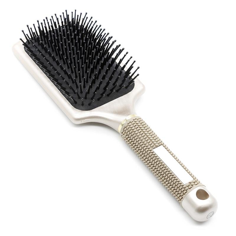 Escova de cabelo para salão de beleza, massageador para cabelos, pente para melhoria do crescimento do cabelo, anti-queda, antiestática, 1 peça escova de pente emaranhado, escova de remo