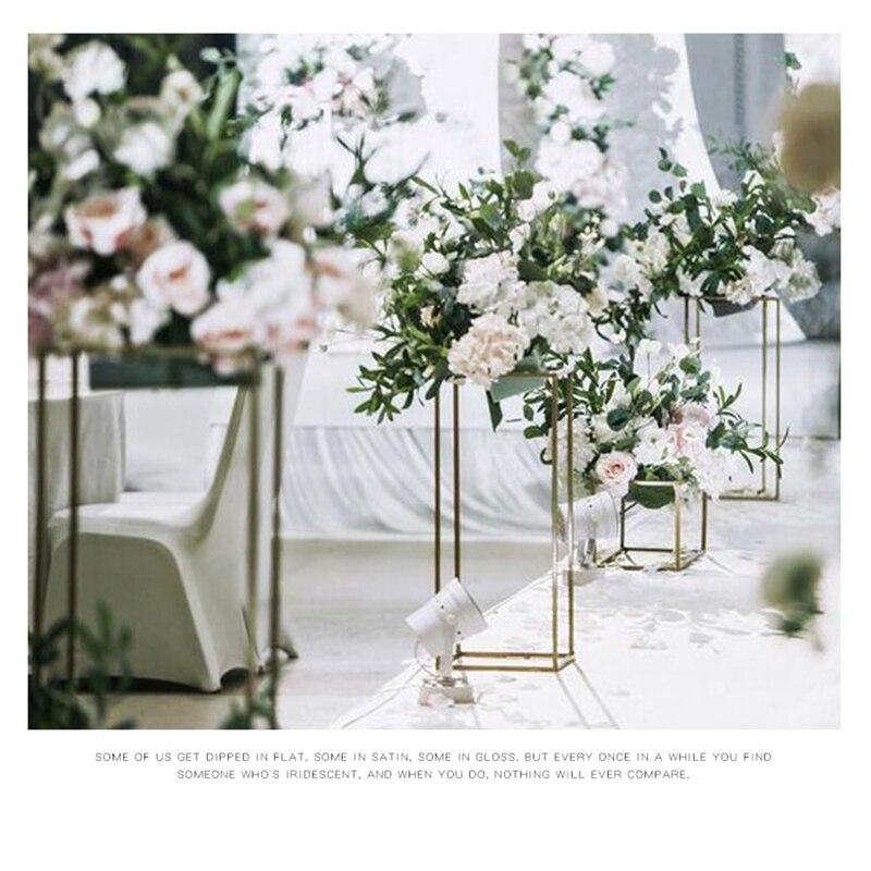 Geométrico de Flor para Casamento Retangular de Metal Formato de Flor para Festas Decoração de Casa Suporte Armação Backdrop Led