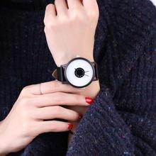 Lovers Casual Round Turntable Dial Faux Leather Quartz Wrist Watches Clock Gift Ladies Dress Watches