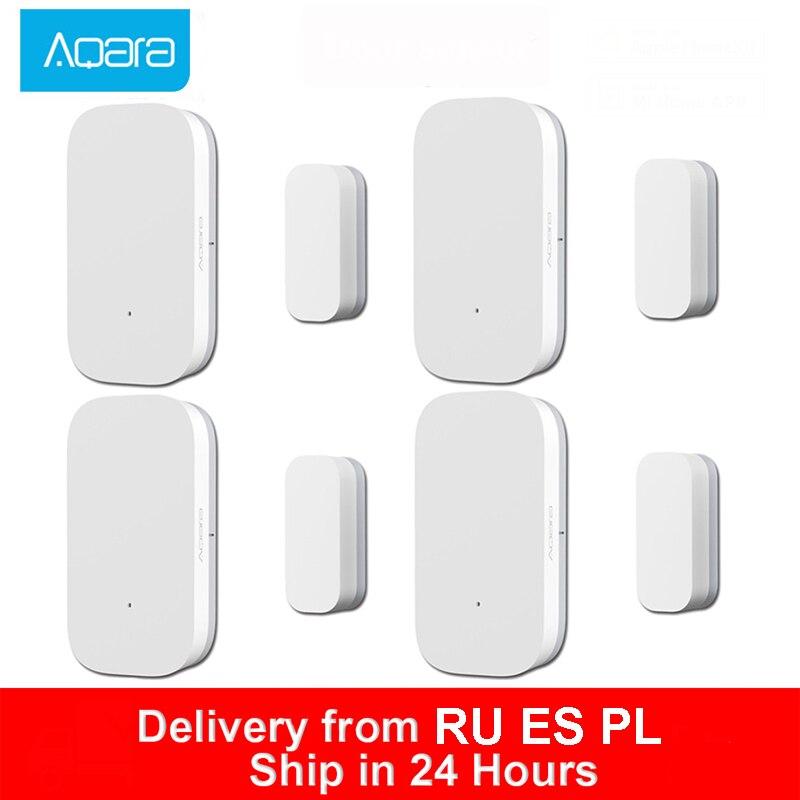 Sensor de ventana de puerta Aqara Zigbee conexión inalámbrica Mini sensor de puerta inteligente funciona con Mi hogar para Xiaomi Mijia Smart Home