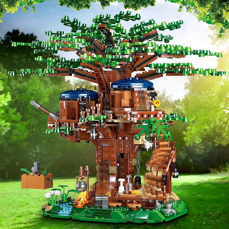 in stock lepin sets 16010 2430pcs lord of the rings figures the tower of orthanc model building kit blocks bricks kid toy 10237 New Tree House Model Building Blocks Ideas 21318  Bricks with Action Figures Model In Stock Educational Toys Gift For Children