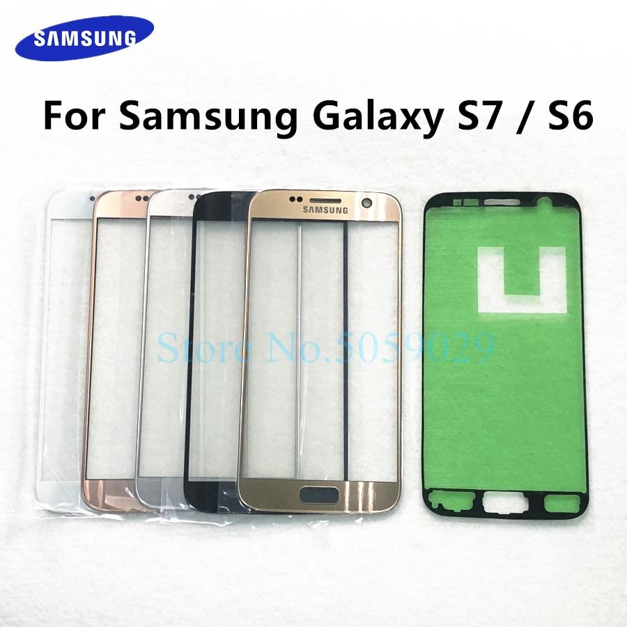 Для Samsung Galaxy S7 G930 SM-G930F G930FD S6 G920 G920F ЖК-дисплей внешняя Сенсорная панель экран стекло замена переднее стекло объектив