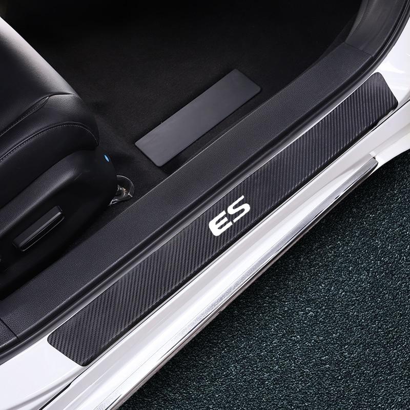 Car Door Sill Anti-scratch Sticker Carbon Fiber Style Decoration Accessories For Lexus ES GS GX IS LX NX RX UX LS Ct200h Fsport
