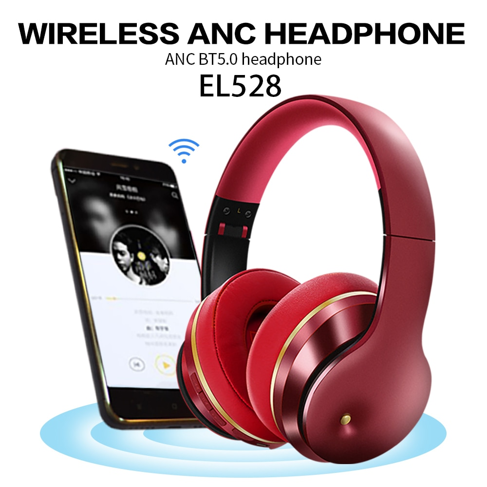 Wireless BT Headphone Foldable Stereo ANC Headset Sports Gaming TF/FM/Wired Mode Earphone for Phone/Laptop/PC Gaming Headset enlarge