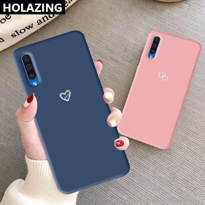 Doux coeur imprimé étui en Silicone Durable pour Samsung Galaxy A10 A20 A20S A50S A30 A30S A10S A70 couverture de bonbons de mode