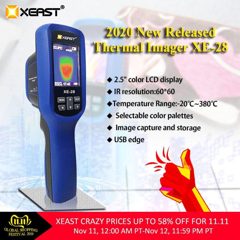 2020 Лидер продаж TRMS Цифровой мультиметр XE-608 и ИК-Термальность Imager инфракрасной Камера HT-02