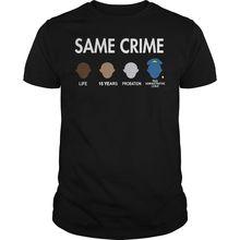 Colin Kaepernick Same Crime T Shirt Black Men Cotton T Shirt Size   Cool Casual pride t shirt men Unisex Fashion tshirt