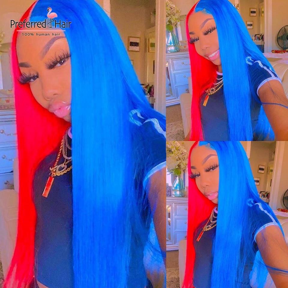 شعر مستعار برازيلي طبيعي ، شعر ريمي ، نصف أحمر ، أشقر ، مع شعر الطفل ، للنساء الأفريقيات