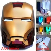 Halloween bricolage pliable lumière LED yeux Kits pour 11 fer homme noir panthère Batman casque Cosplay accessoire accessoires AAA batterie #2