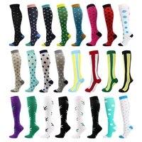 24 styles compression stocking outdoor sports marathon running socks men and women medical edema diabetes varicose veins socks