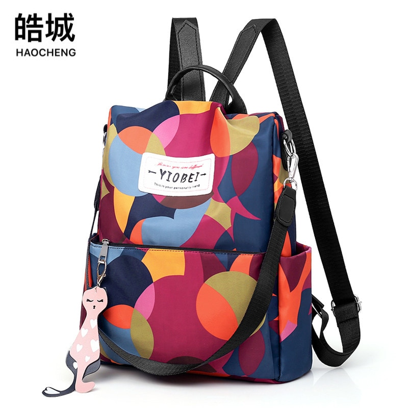 The New 2021 Korean Version  Ladies Anti-theft Backpack Fashion Color Travel Single Shoulder Women Bags for