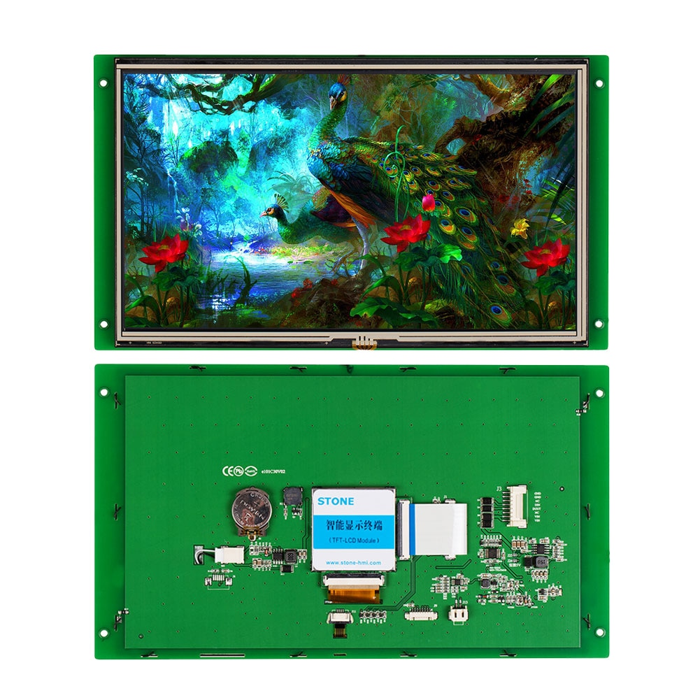 10.1 Inch Graphic TFT LCD 1024*600 Smart Touch Screen Display Intelligent Control Board Embedded Software with UART Interface