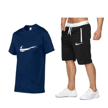 2021 men t-shirt, zipper sports logo shorts, casual style t-shirt suit trend summer trend casual spo