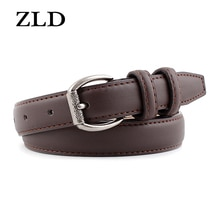 ZLD New vintage women pin buckle belt Personalized fashion Casual decorated jeans Strap All-match la