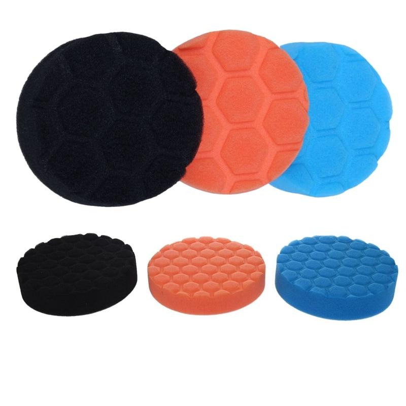 6x Шестигранная-логическая буфферная полировальная прокладка для автомобильного полировщика 3 дюйма и 5 дюймов