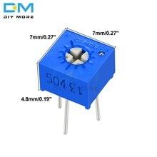 Potenciómetro recortador 3362P, resistencia Variable, 100R, 200R, 500R, 1K, 2K, 5K, 10K, 20K, 50K, 100K, 200K, 500K, 1M Ohm, 10 Uds.