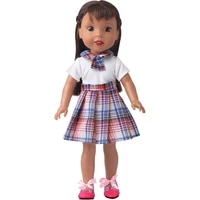 14 5 inch nancy american paola reina doll clothes pink blue checked school uniform skirt baby girls toys accessories gift x87