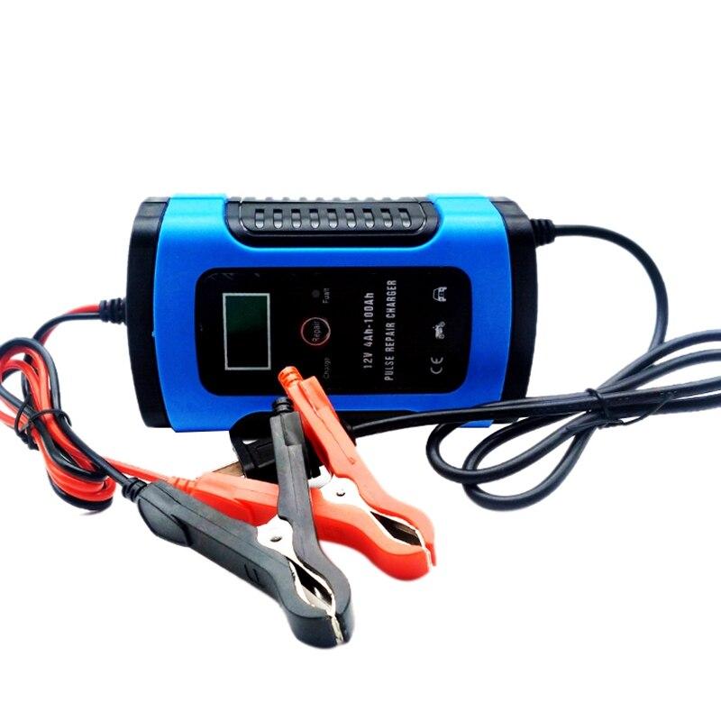 Cargador de batería para motocicleta, cargador de batería inteligente y mantenedor, automático 6A 12V con pantalla LCD para cargar, mantener un